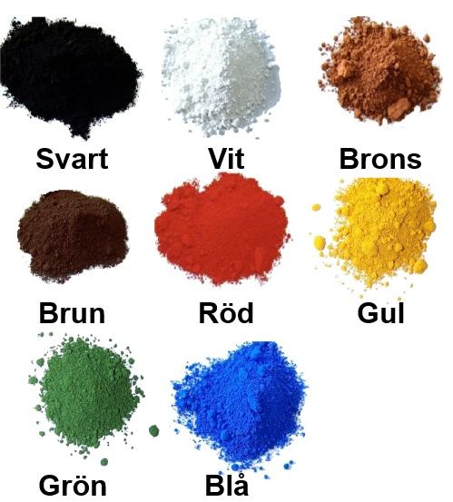 färgpigment till betong